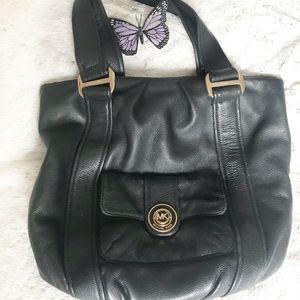 Michael Kors-North South Large Leather Hobo Bag